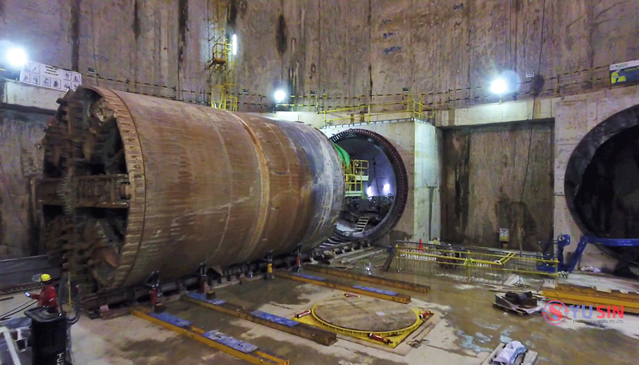 6.7m Hitachi Zosen TBM weighs 520 tonne