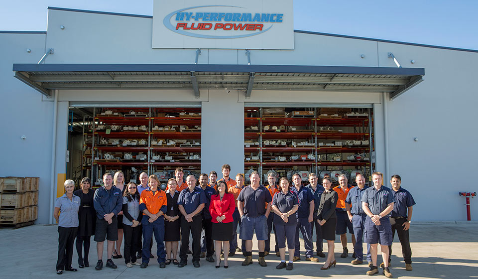 The team from Hy-Performance Fluid Power