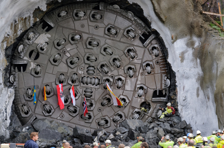 Breakthrough at Ulriken rail tunnel