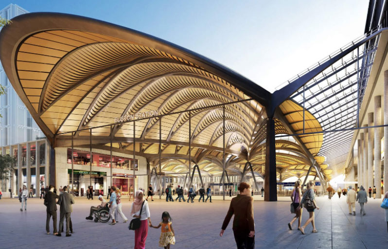 Artist's impression of new concourse at Euston
