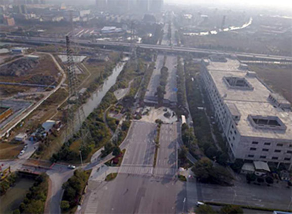 30,000m<sup>3</sup> of concrete backfill has allowed Jihua Xilu Road in Chancheng District to reopen