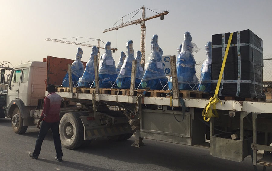 Just-in-time truck delivery in Doha