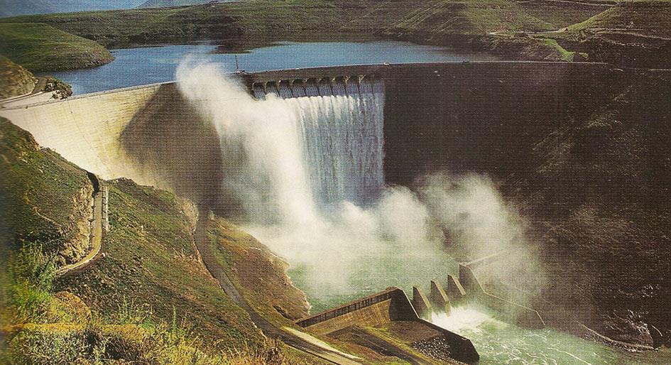 Katse Dam, the centrepiece of the binational water delivery project