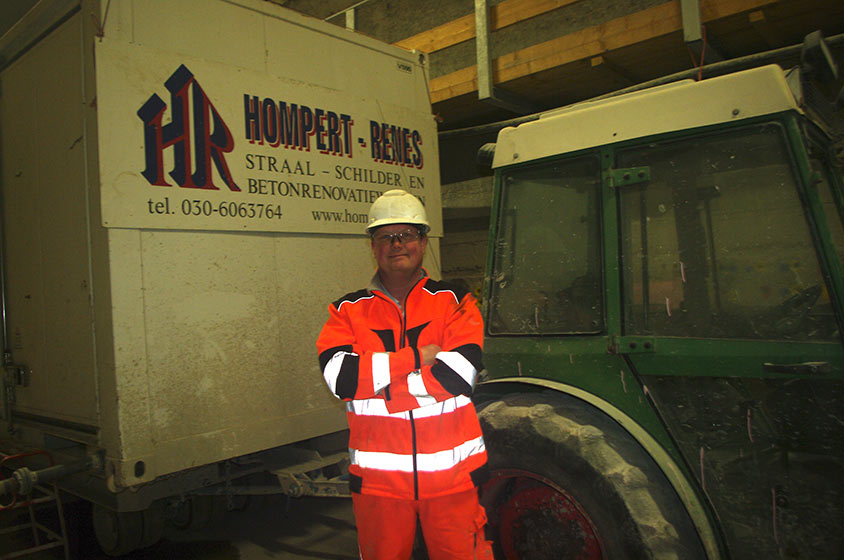 Jurjen Volmer, hydrodemolition specialist, is subcontractor to principle contractor Hompert-Renes
