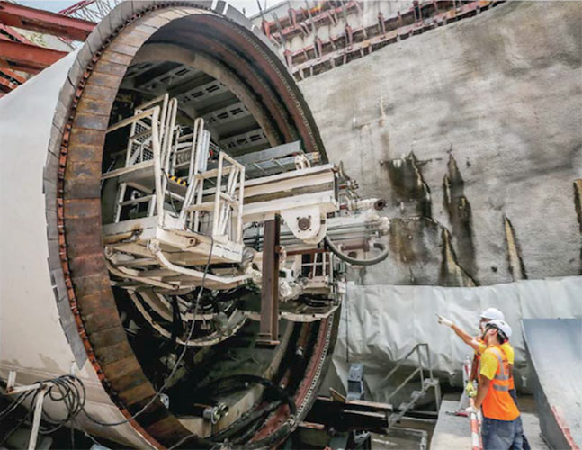 The first TBM launched is the first of eight DVMs used previously on the Line 1 project