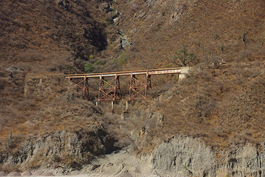 Risk analysis assessed natural hazards to the existing railway