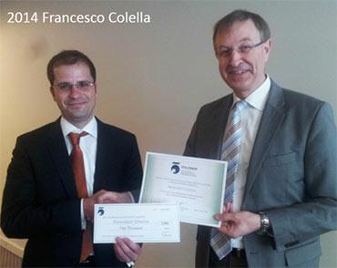 2014 winner Francesco Colella