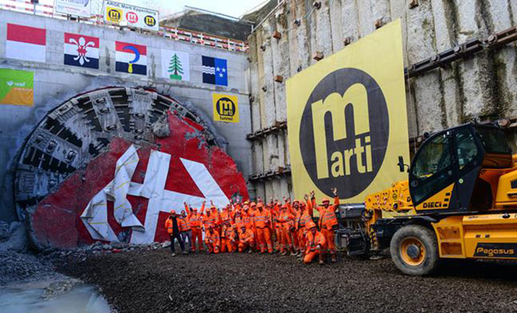 Last TBM breakthrough at Eppenberg