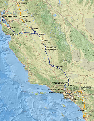 Fig 1. Dedicated high-speed rail route