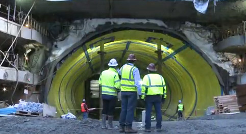 Ground freezing support for Northern Blvd underpass for East Side Access