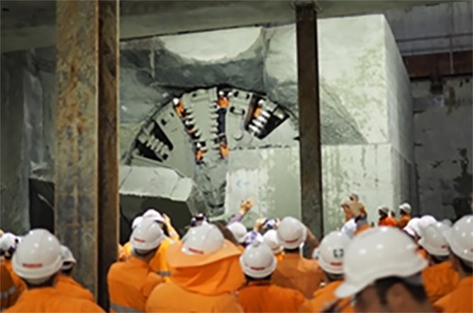 Lead TBM breakthrough on 8 May