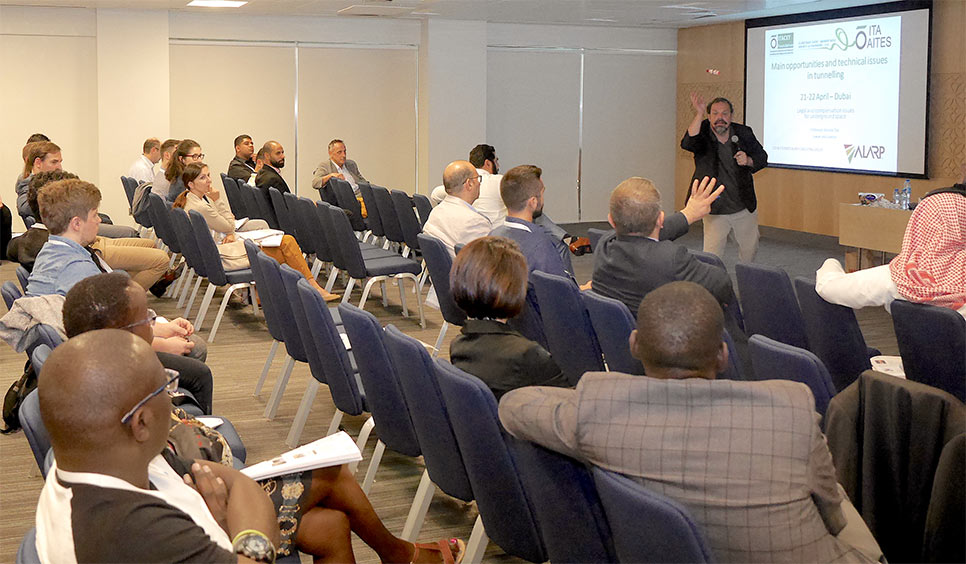 Arnold Dix integrated audience participation in his entertaining presentation