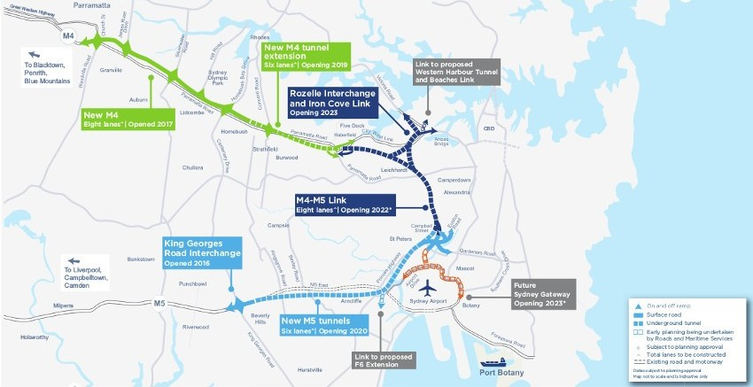 Full scope of the Sydney WestConnex project