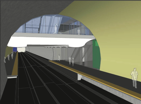 Staggered side platforms design for the Toronto Scarborough subway extension