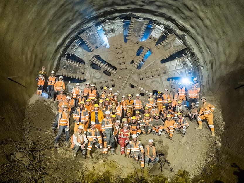 Second TBM breakthrough on Filder Tunnel in mid-2017