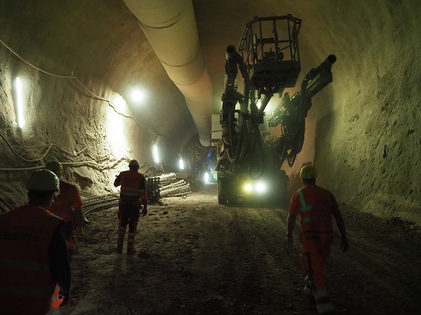 Conventional tunnelling for Filder Tunnel transition zone