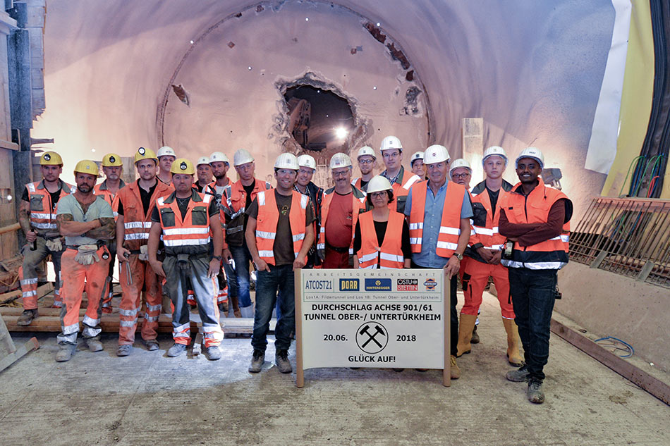 Celebration as works near end at Oberturkheim Tunnel