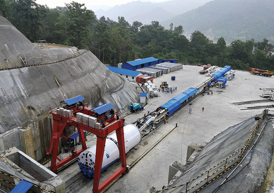 Assembly of the first TBM ever to operate in Nepal