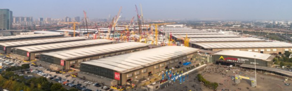 bauma China show ground in Shanghai