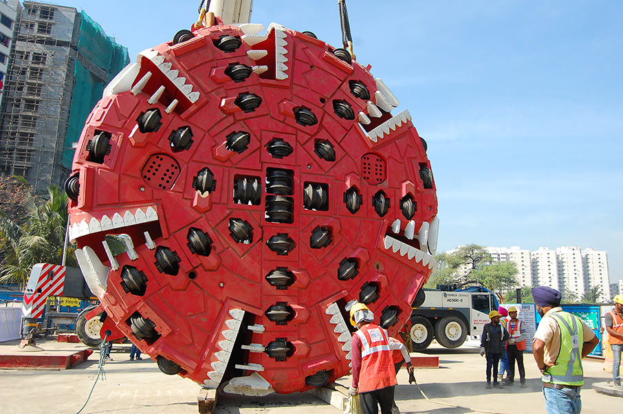 Fifth Terratec TBM for Mumbai assembled