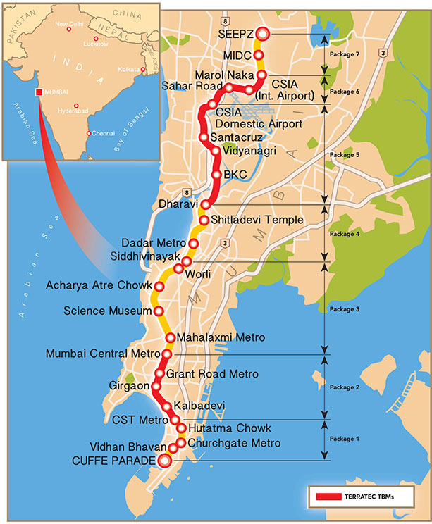 Fig 1. Progress so far on Mumbai Metro