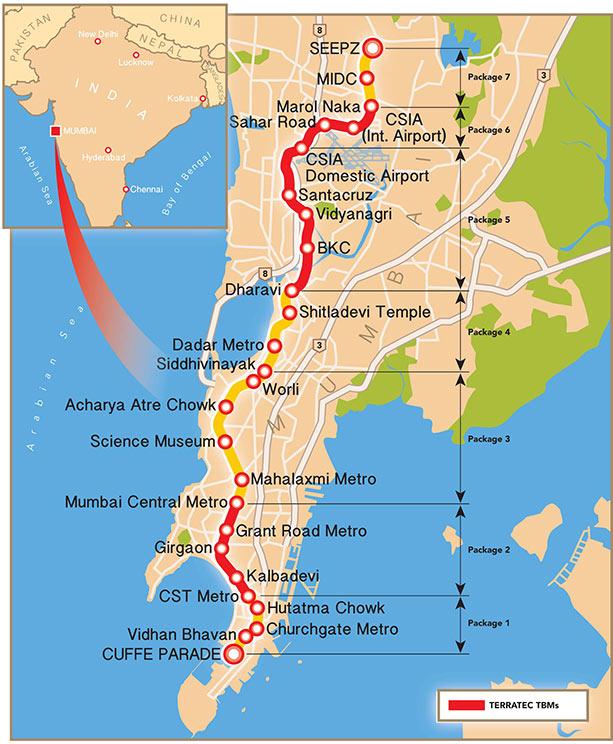Fig 1. Progress so far on Mumbai Metro