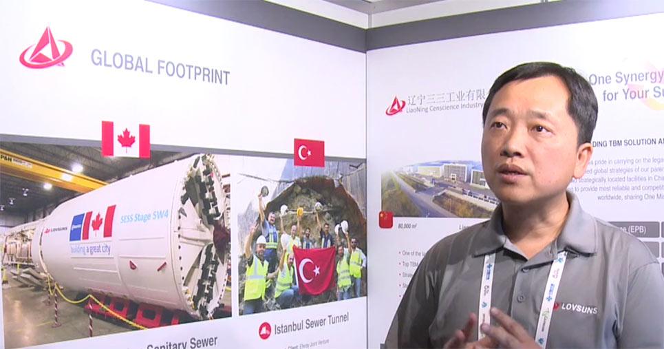Managing Director Hongyu Xue representing Lovsuns at WTC Dubai