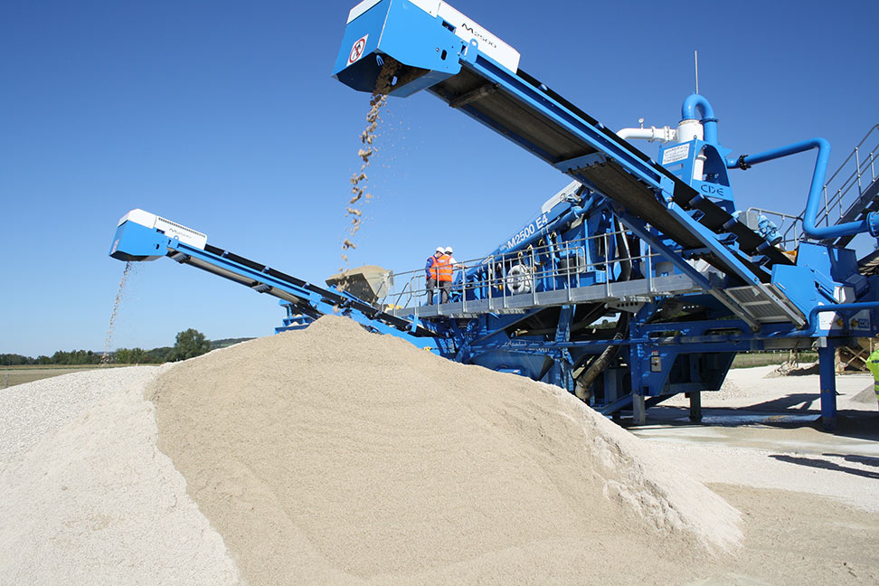Artificial sand manufactured on site in Norway