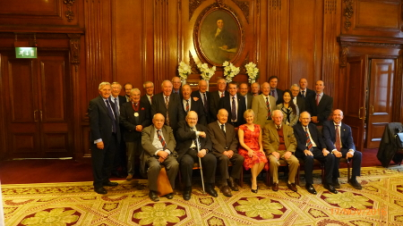 BTS James Clark Medal winners lunch 2016, John Bartlett CBE FREng front row, third from left