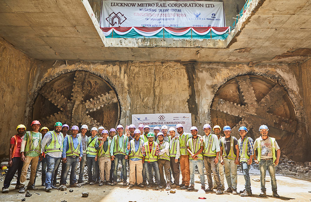 Double breakthrough with two Terratec EPBMs on India Lucknow Metro in June 2018