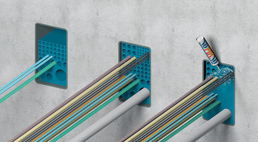 Beele Controfil allows orderly and controlled transit of cables