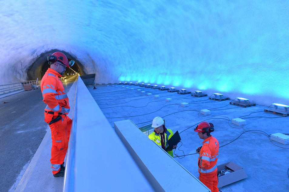 Ryfast tunnel in fit-out near Stavanger, Norway