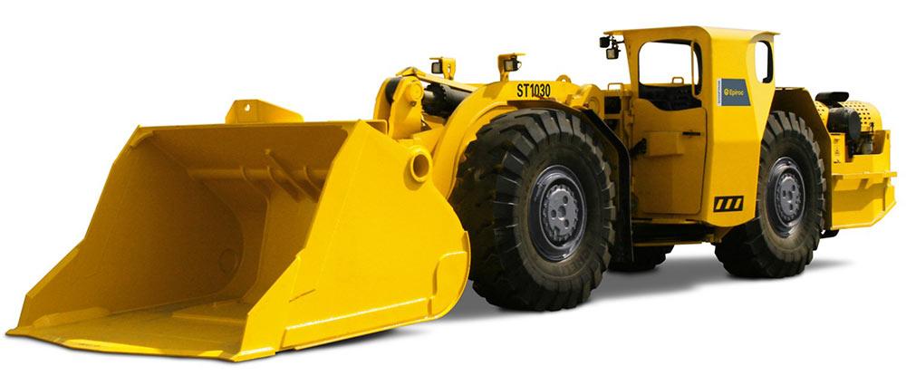 Epiroc Scooptram underground loader