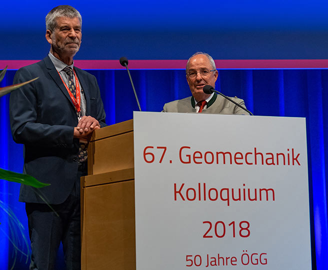 Vavrovsky (right) and Schubet presented society history