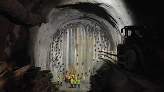 Ground freezing preparations at Albula 2 Tunnel