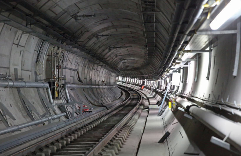 Completed trackway in the underground central section