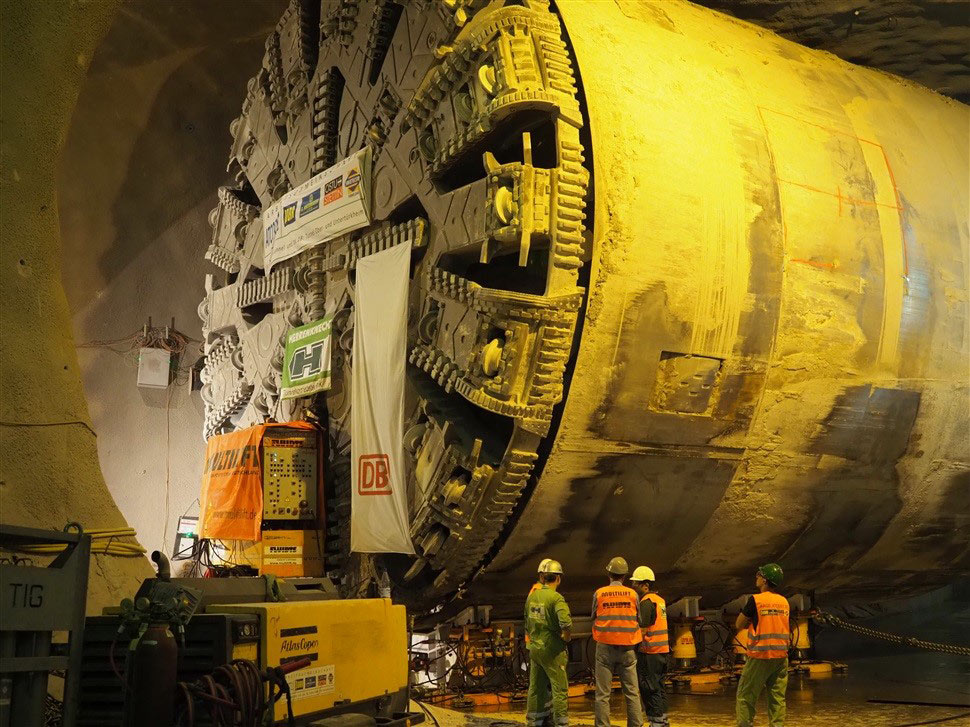 TBM u-turn at Filder Tunnel
