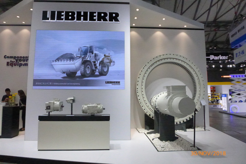 Liebherr showcasing main bearings for TBMs