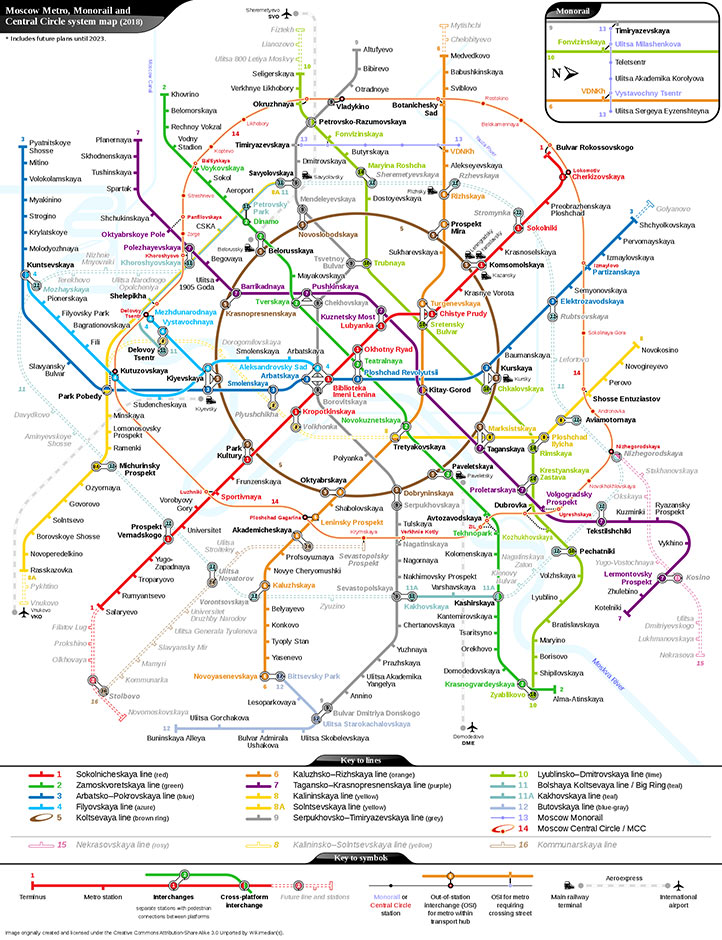 Fig 1. Moscow Metro and planned extensions