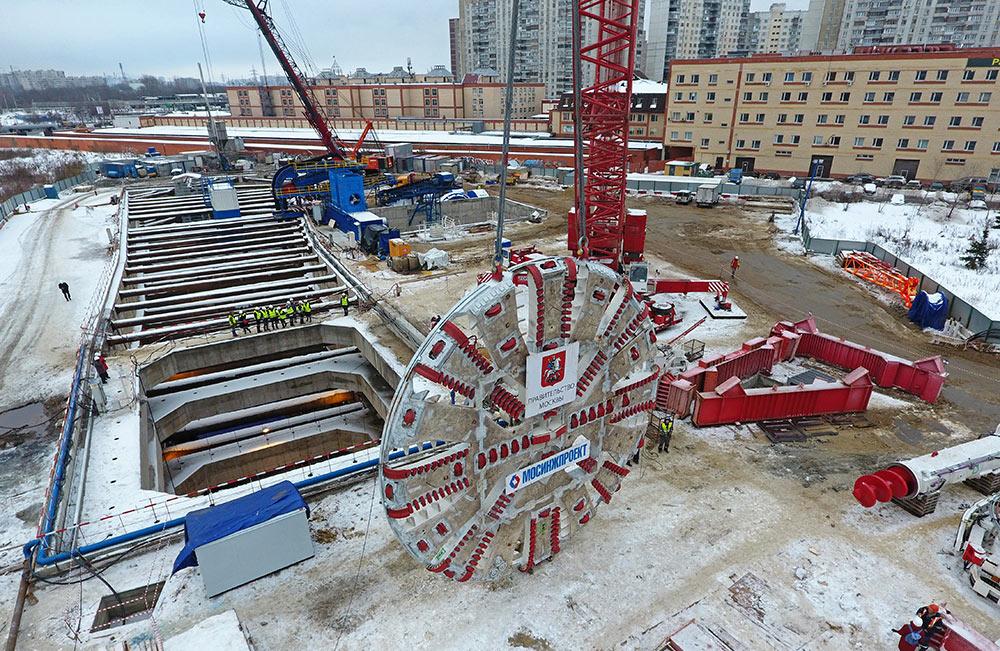 10.85m diameter TBM for Moscow Metro Kozhyveskoy Line