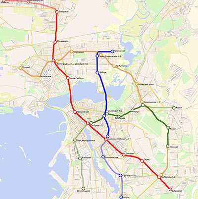 Fig 4. Kazan Metro plans new lines