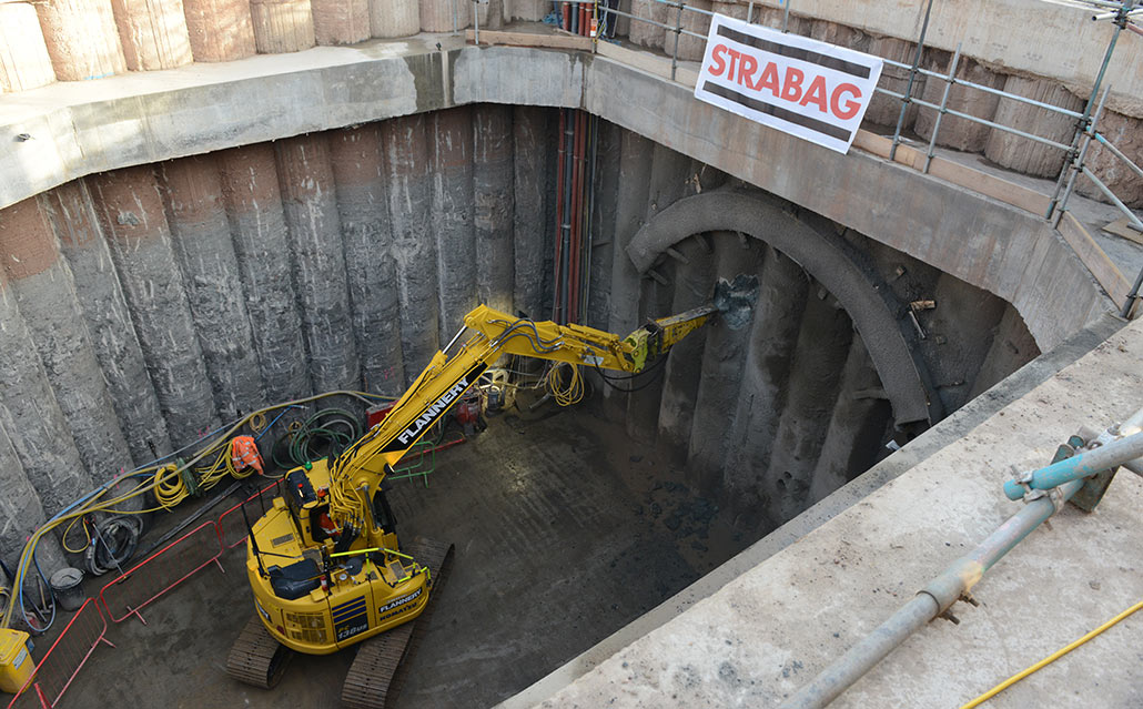 Breakout at Wilton to excavate TBM launch tunnel