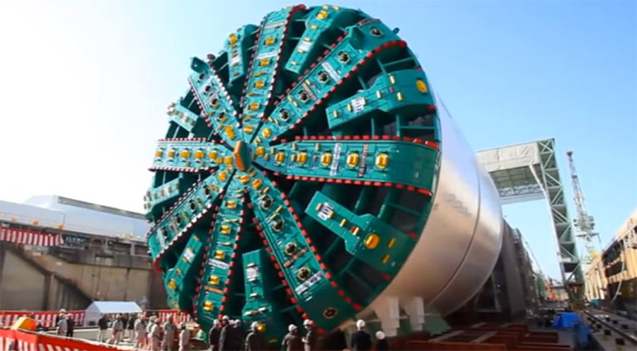 TBM Bertha supplied from Japan for the project