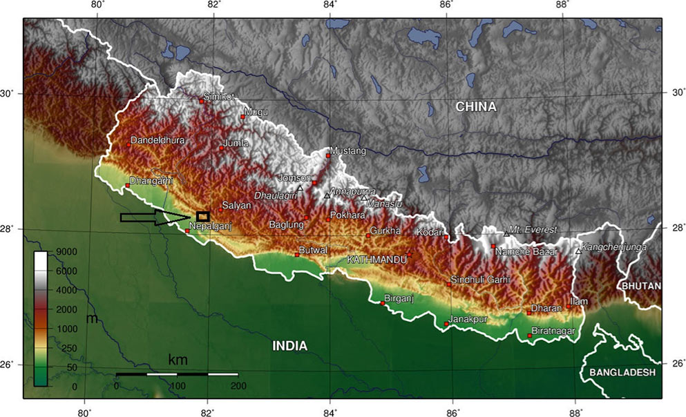 Location of first TBM project in the Himalayas of Nepal