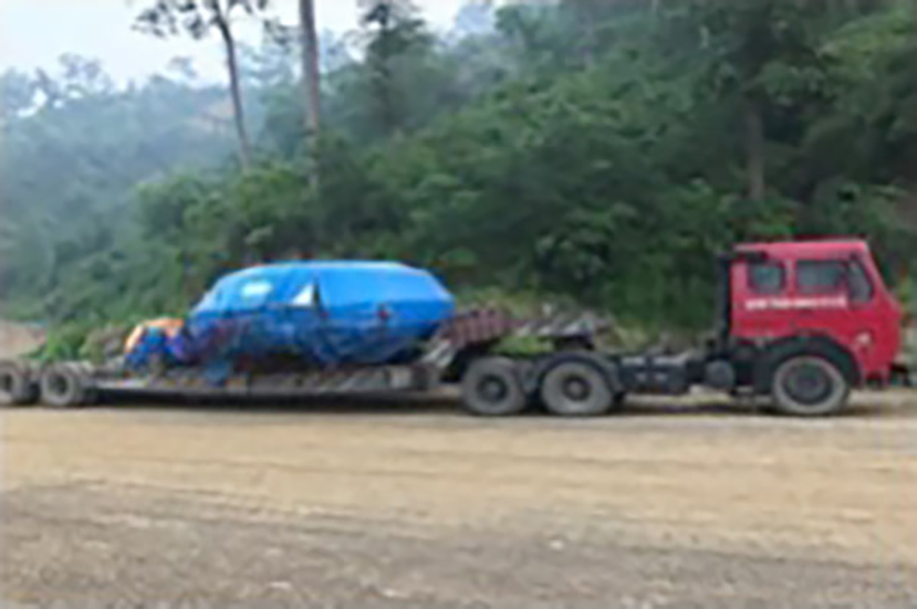 TBM drive unit enroute to the job site