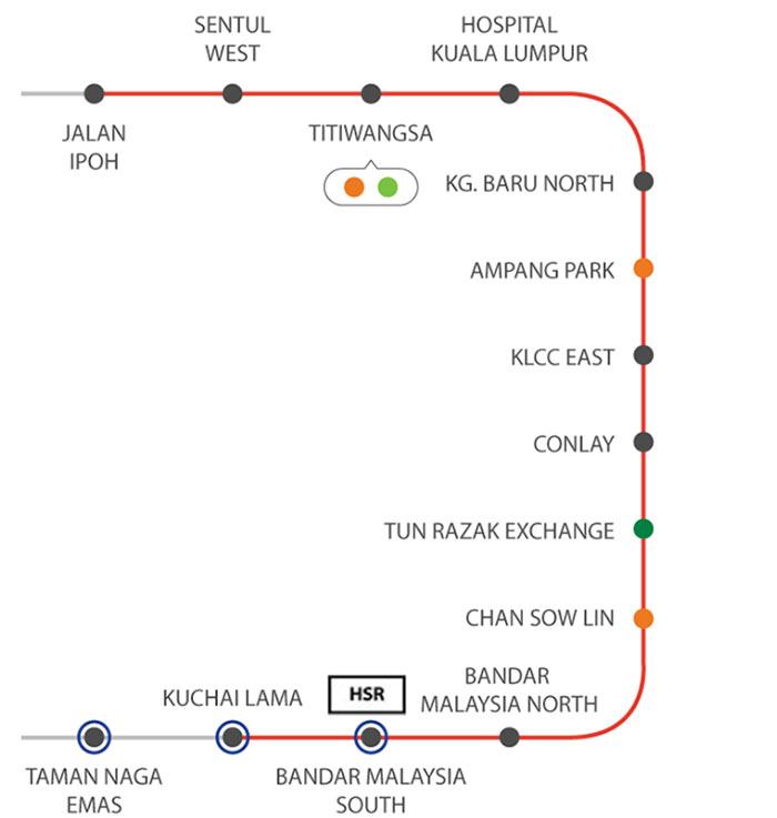 Underground section of KVMRT Line 2