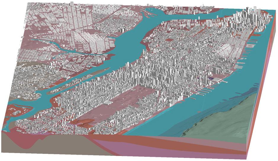 Visualisation of Manhattan in Leapfrog Works