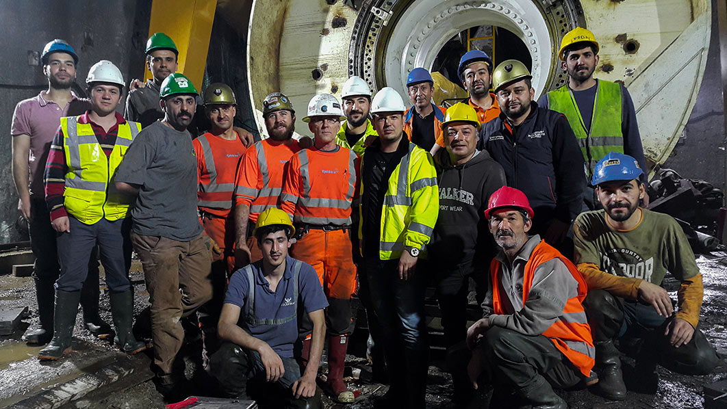 Robbins team with Kolin/Limak crews during OFTA of the TBM