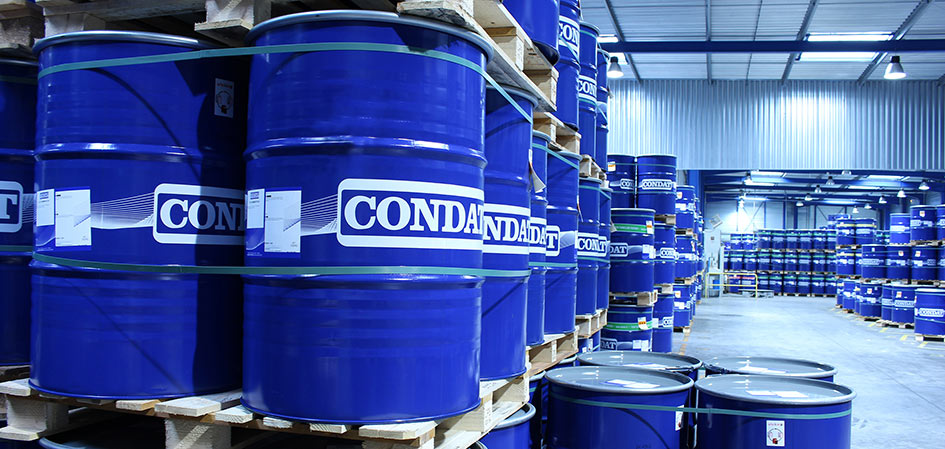 Storage facilities at Condat