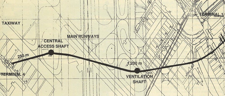 Plan of Heathrow baggage tunnel